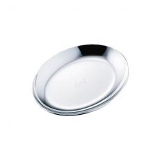 Tomiwoody 橢圓飾品盤-光澤銀