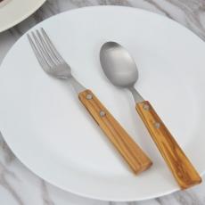 SALUS 橄欖木餐具-2件組(大)