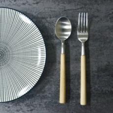 SALUS 優雅細木餐具-2件組(大)(2色)
