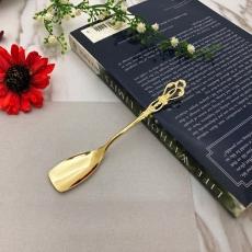SALUS 復古雕花午茶餐具-冰淇淋匙(金)