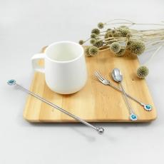 SALUS 花朵小鑽午茶餐具-3件組(3色)