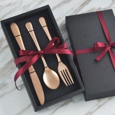 SALUS 古典玫瑰金餐具-3件組