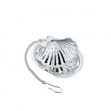 Tomiwoody 懸掛式濾茶器-貝殼(光澤銀)