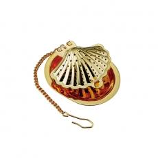 Tomiwoody 懸掛式濾茶器-貝殼(古典金)